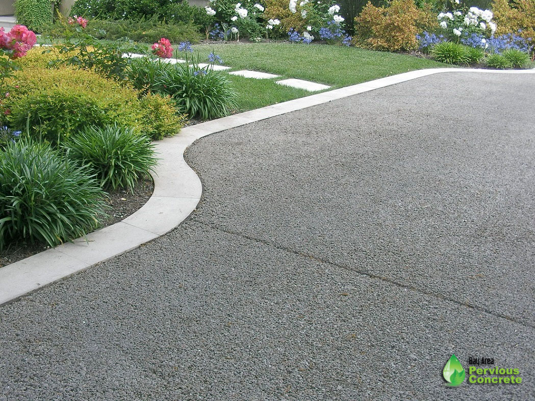 Classic Pervious Concrete Driveway - Palo Alto, CA