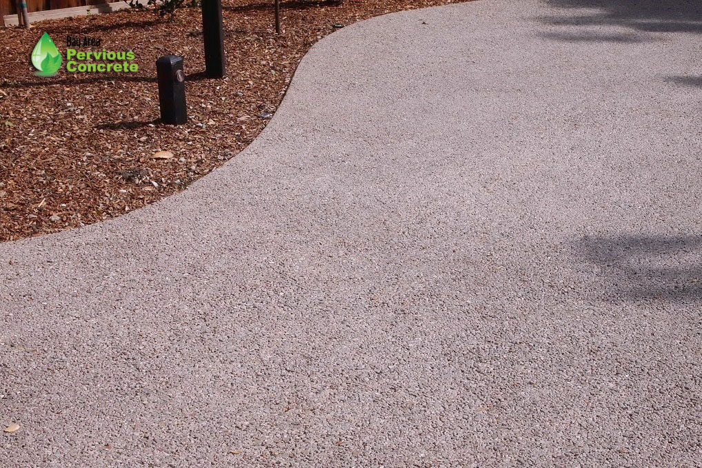 Polished Pervious Concrete Driveway - Woodside, CA