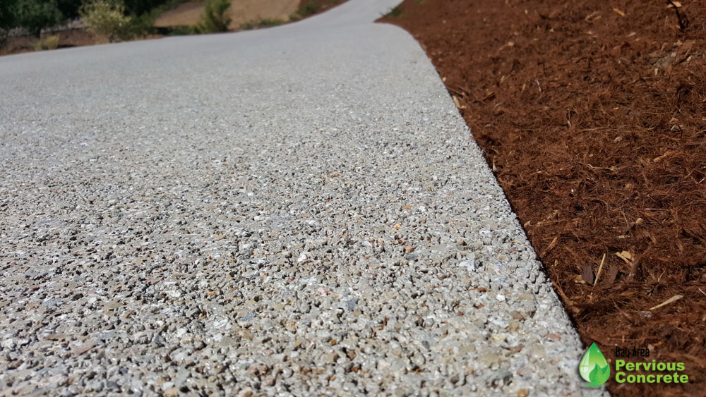 Polished Pervious Concrete Driveway - Portola Valley, CA