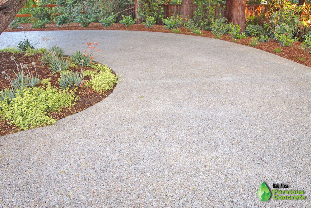 Residential Driveway- Polished Pervious Concrete- Los Altos Hills, CA
