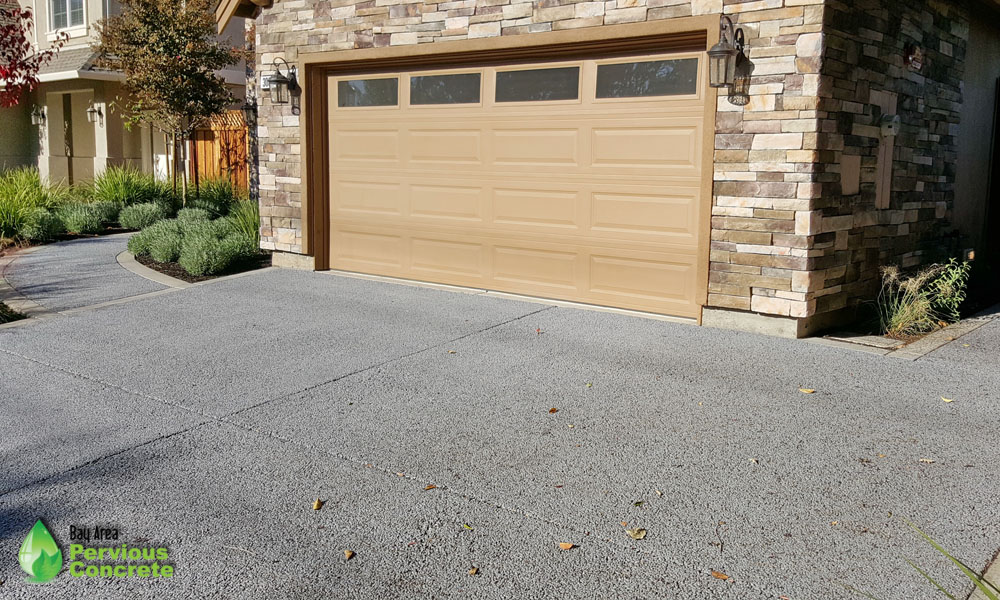 Residential Driveway Classic Pervious Concrete - Concord, CA