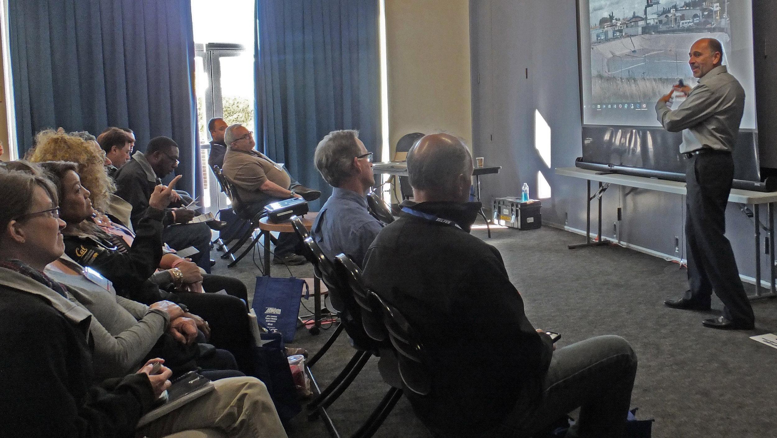 David Liguori presenting on pervious concrete at the APWA Northern California 2016 Conference