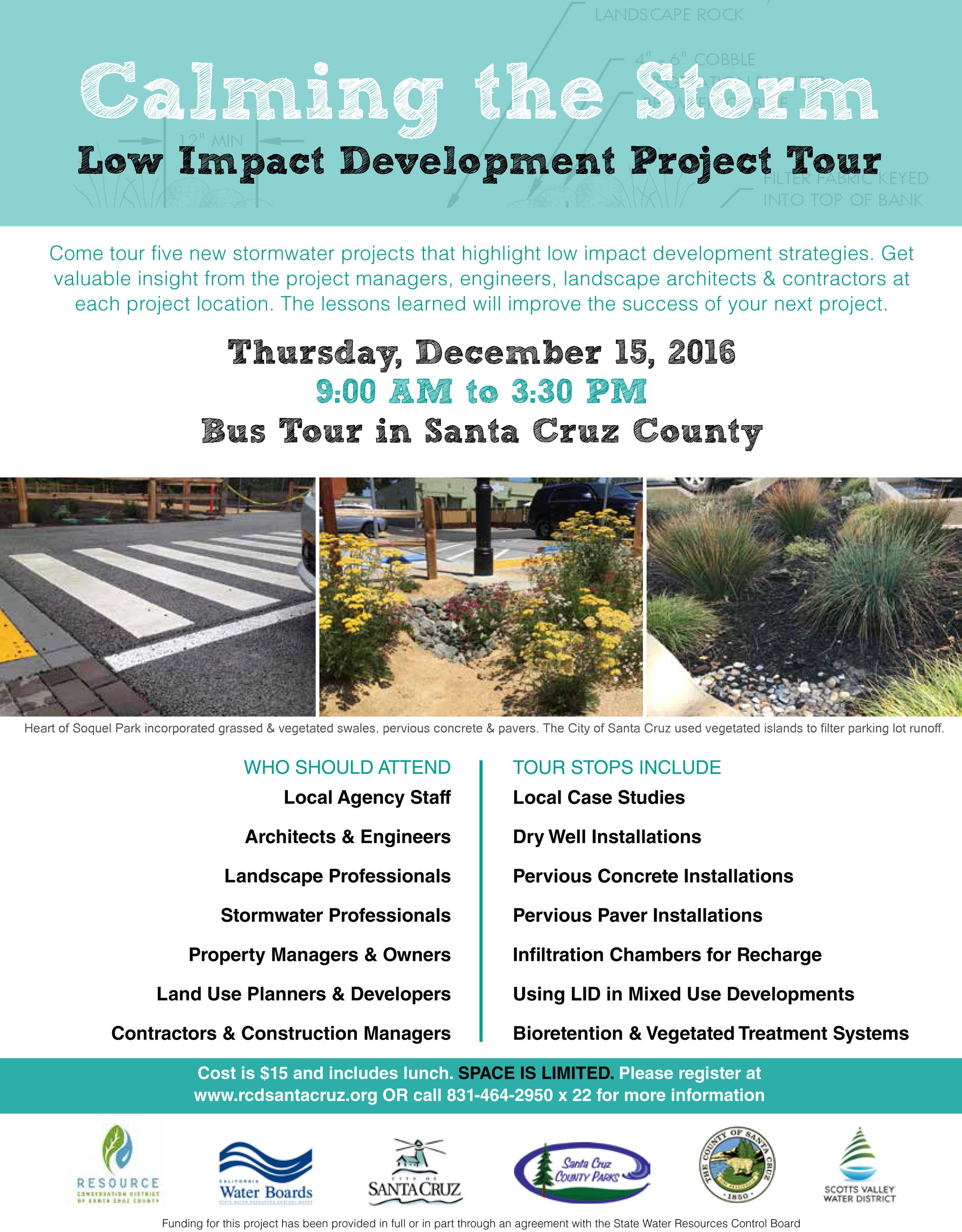 Santa Cruz County-Calming the Storm-LID tour