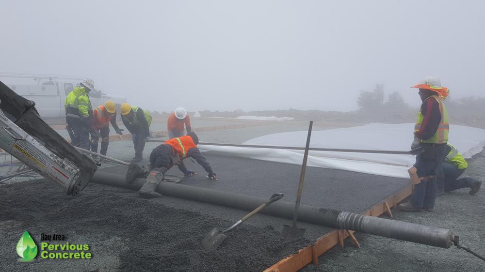 Bay Area Pervious Concrete-Mount Umunhum Summit-pervious concrete helicopter pad-santa clara county