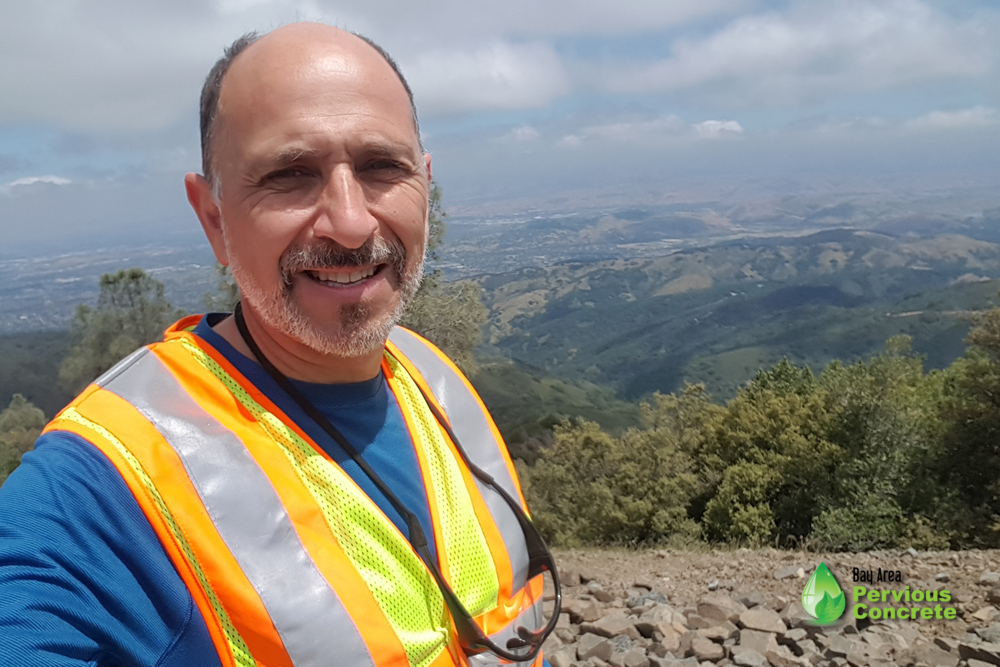 David giving you a hint of the spectacular views you can expect to see from Mount Umunhum.