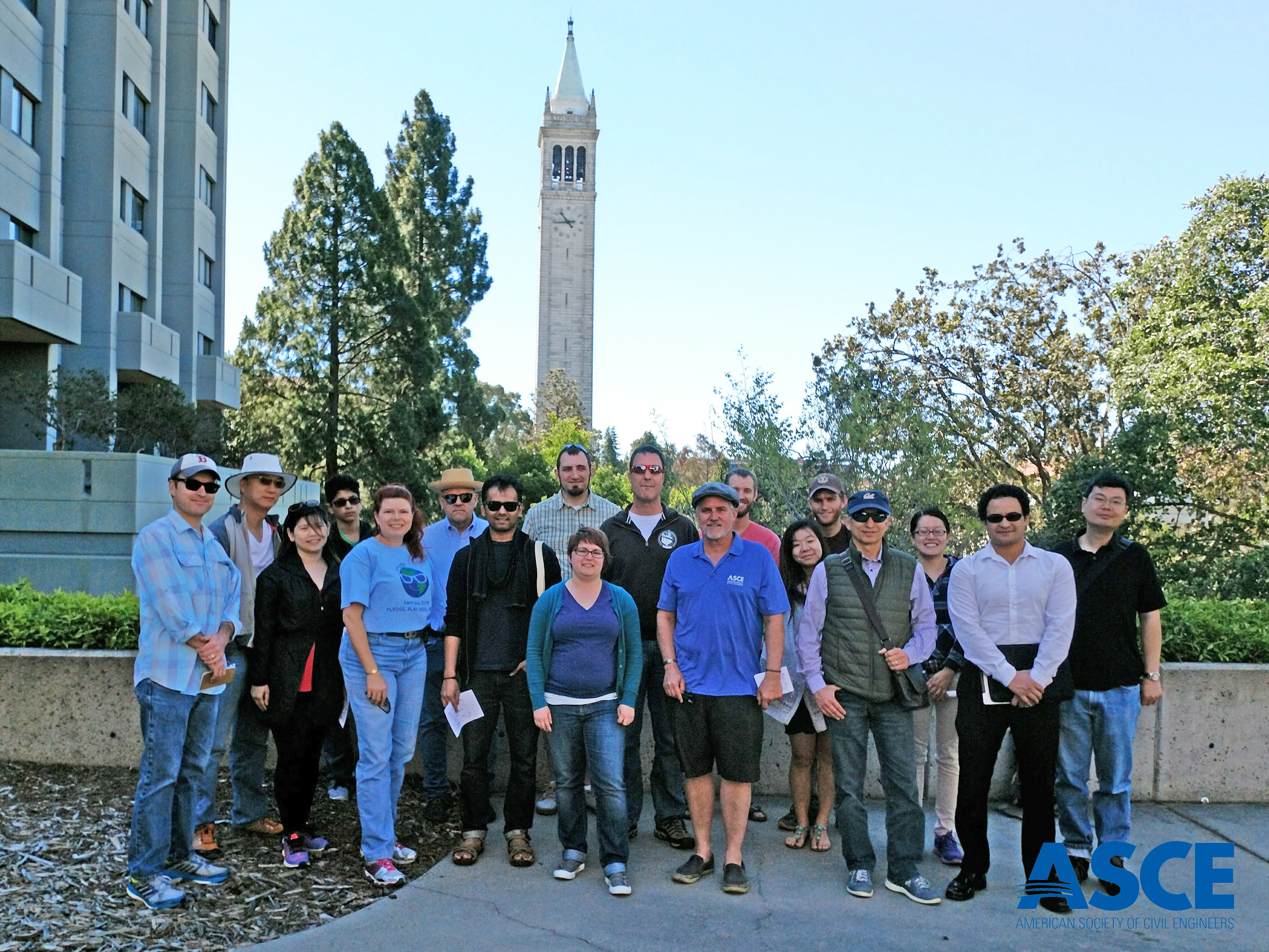 ASCE SF Section Sustainability Committee and their guests on the UCB tour.