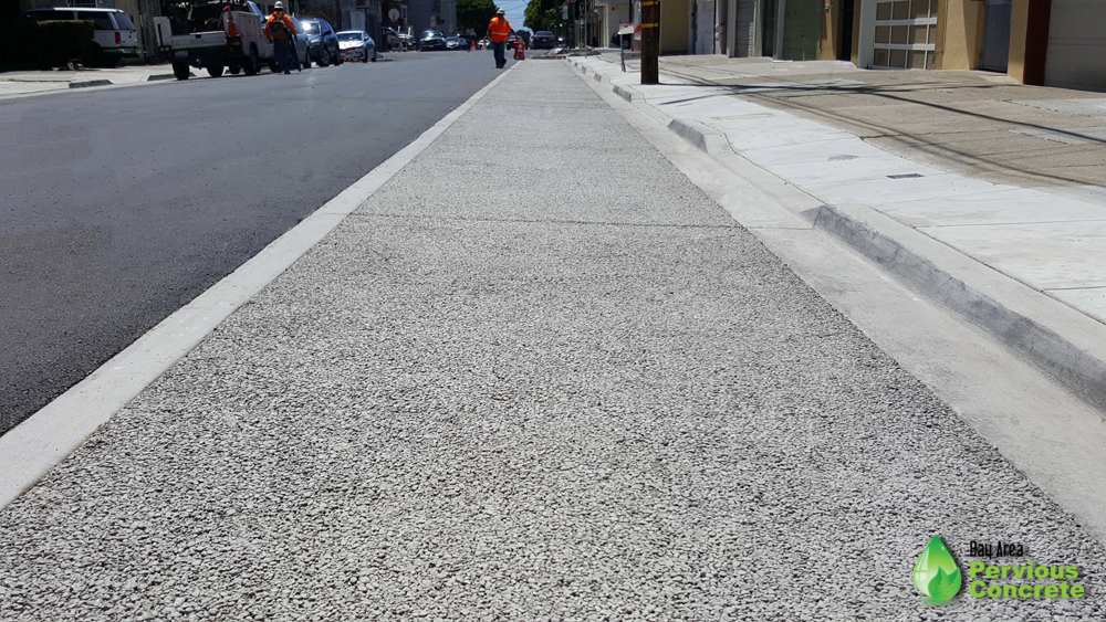 Landscaping still needs to go in, but look at that pervious concrete! Shiny and new!