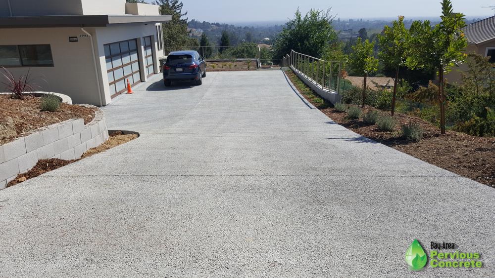 Classic Pervious Concrete Driveway - Los Altos Hills, CA