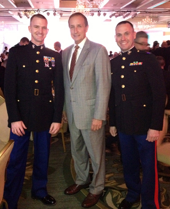 Rocky Caylor at the Marine Corps Scholarship Foundation Fundraiser.