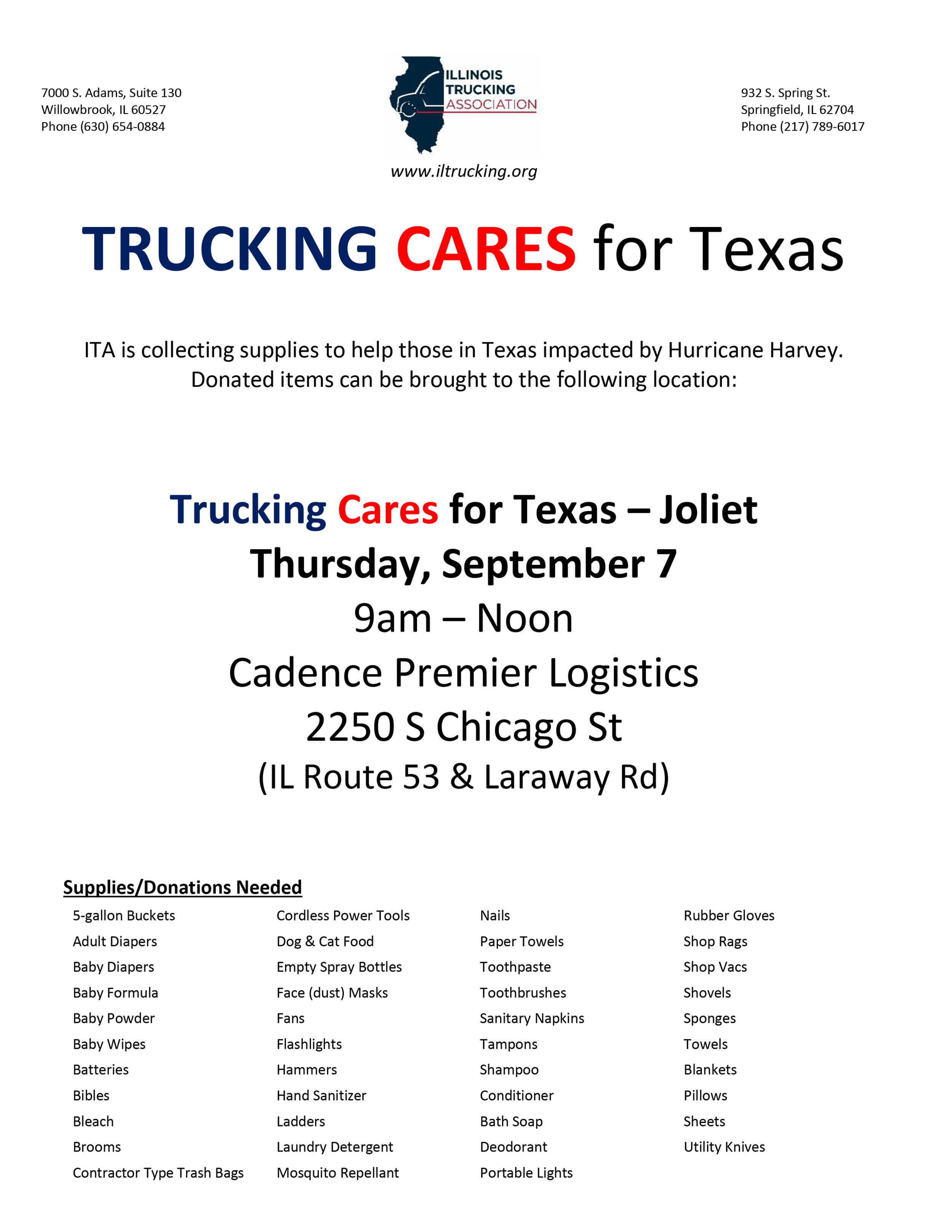 Trucking Cares for Texas Poster - Joliet.jpg