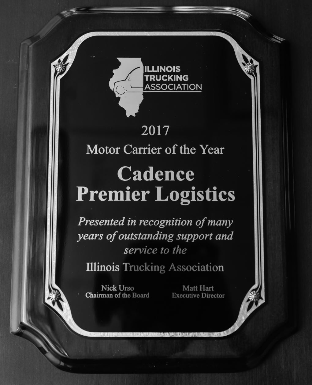 2017 MOTOR CARRIER OF THE YEAR  - Presented by Illinois Trucking Association