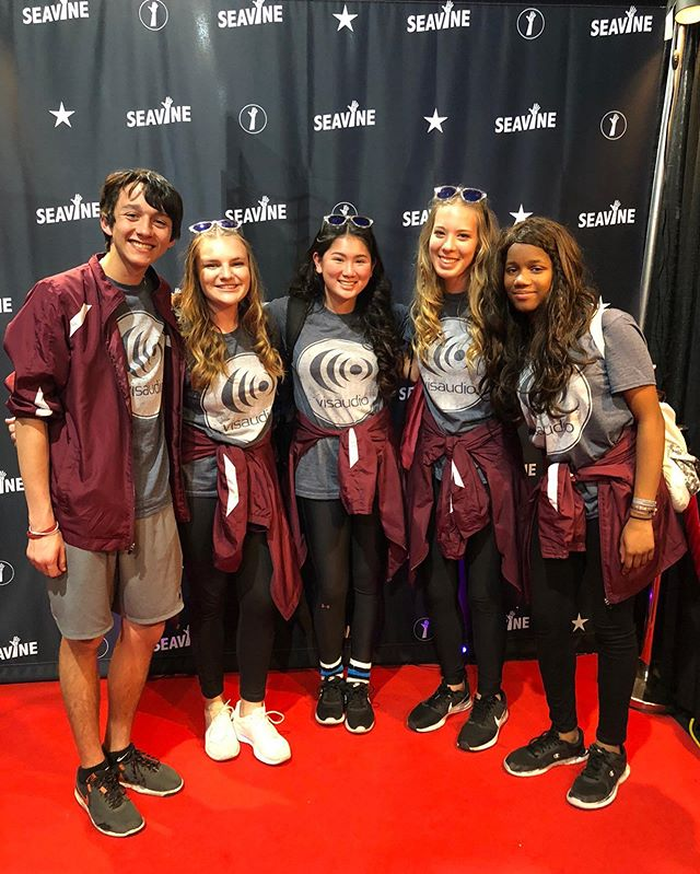 When you have cymbal celebrities on your red carpet AND they're wearing the latest @visaudio swag...you fangirl hard! #seavine #visaudio #wgi2019