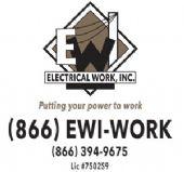 Silver Level Sponsor  Electrical Work, Inc.  Putting you power to work.  Lic# 750259  (866) EWI-WORK  (951) 698-7758   www.electrical-work.com