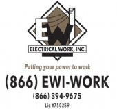 Buckle Sponsor  Electrical Work, Inc.  Putting you power to work.  Lic# 750259  (866) EWI-WORK  (951) 698-7758   www.electrical-work.com