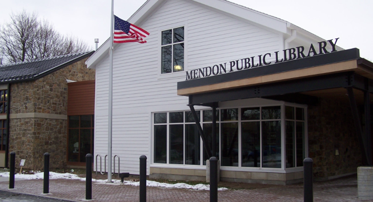 The Town of Mendon Library in the Village ofHoneoye Falls