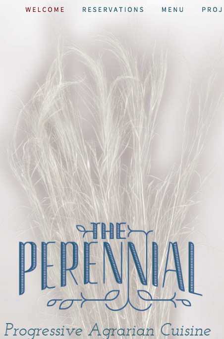 The Perennial's website has info, reservations, pictures, more on our ecological projects.