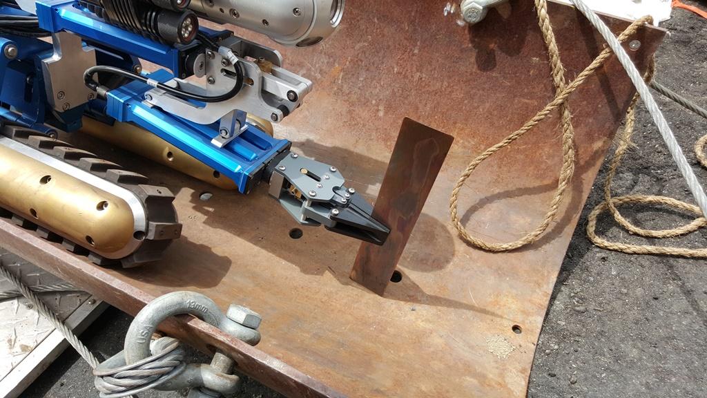 Manipulator Retrieving Pipe Debris