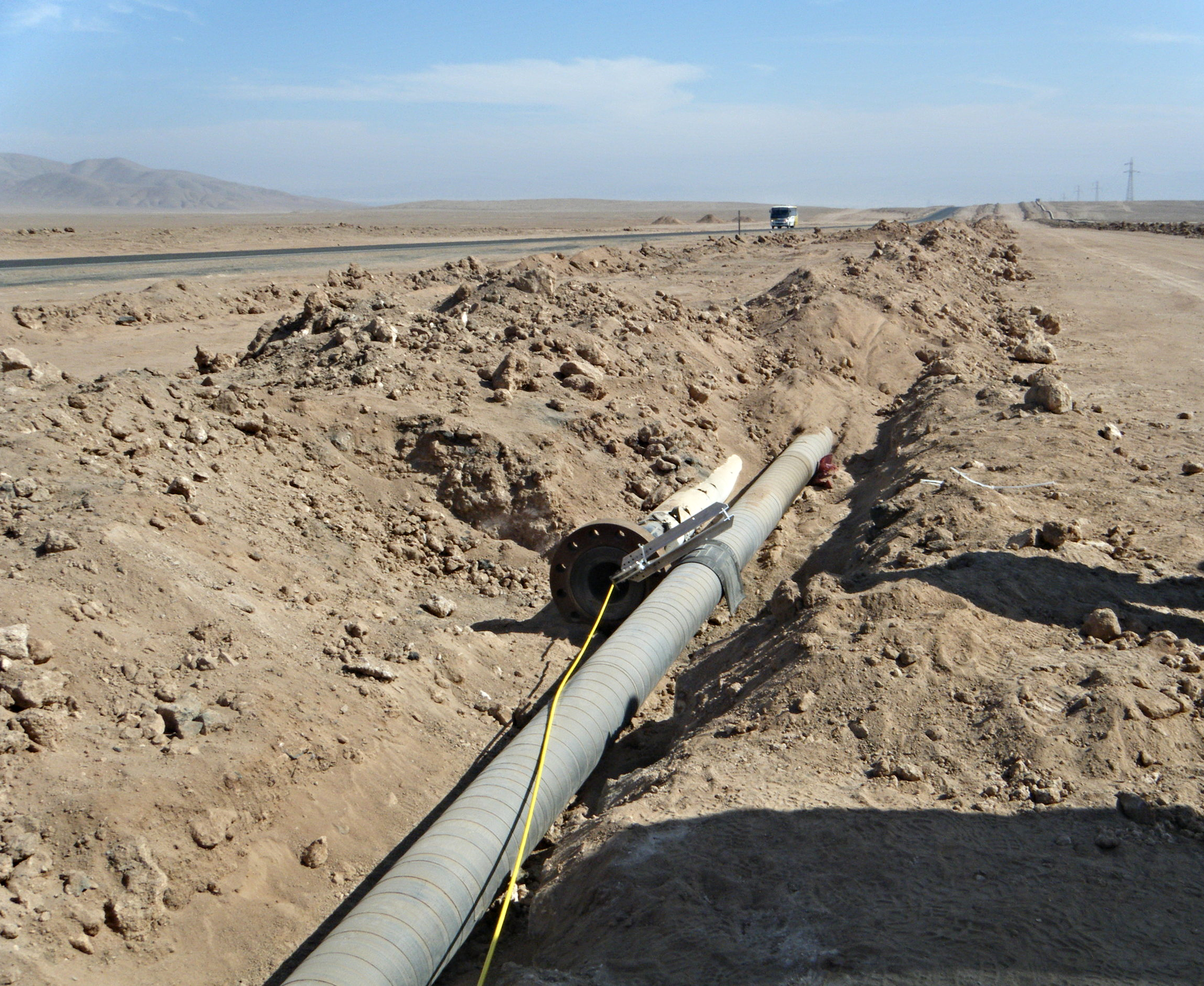 Escondido Pipeline being inspected by the Versatrax 150 Crawler
