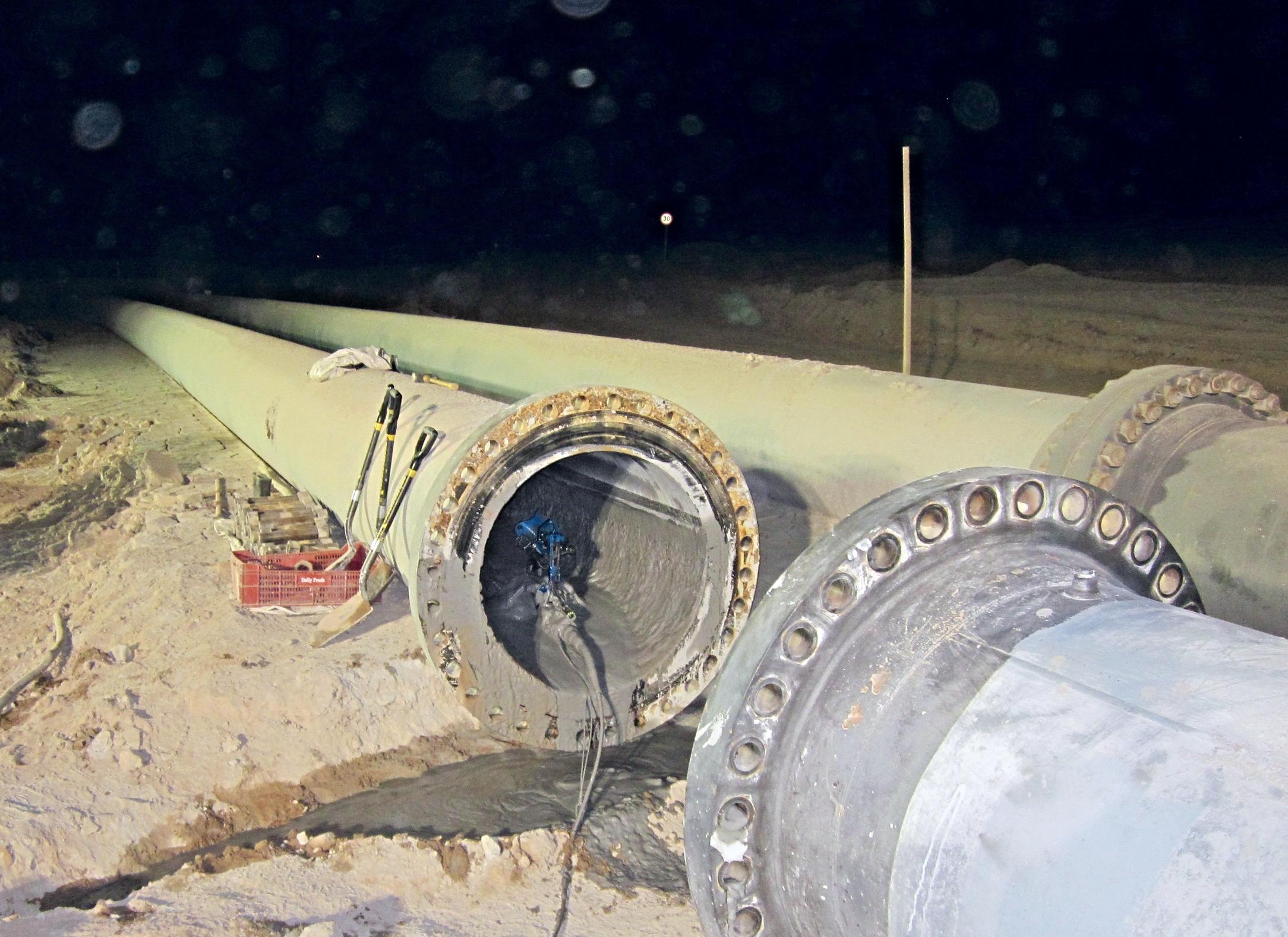 Versatrax 150 inspects Escondido mine pipeline