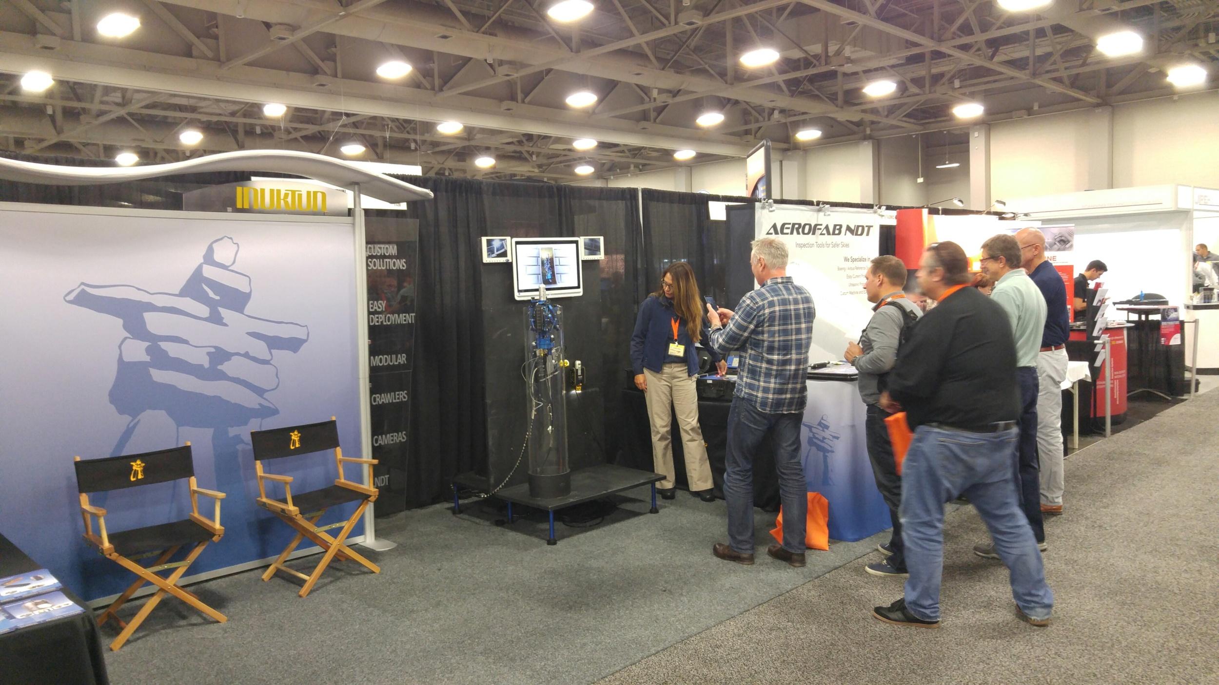 Vertical Crawler demonstration at ASNT Conference