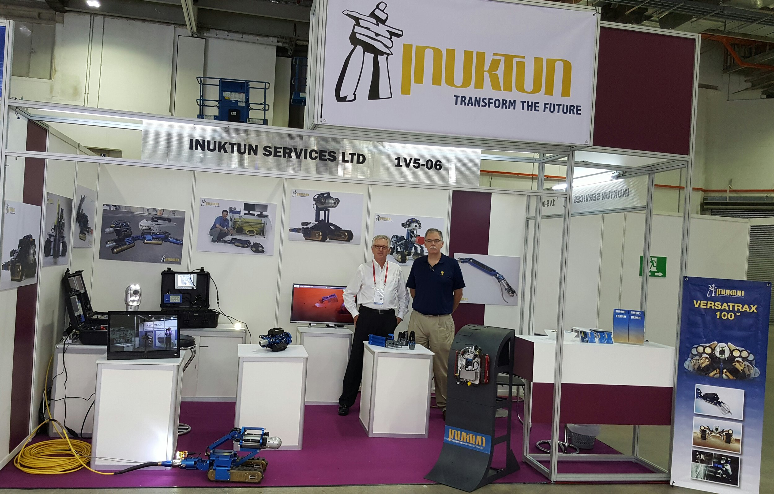 Inuktun Asia President with Inuktun Services Technical Sales Manager