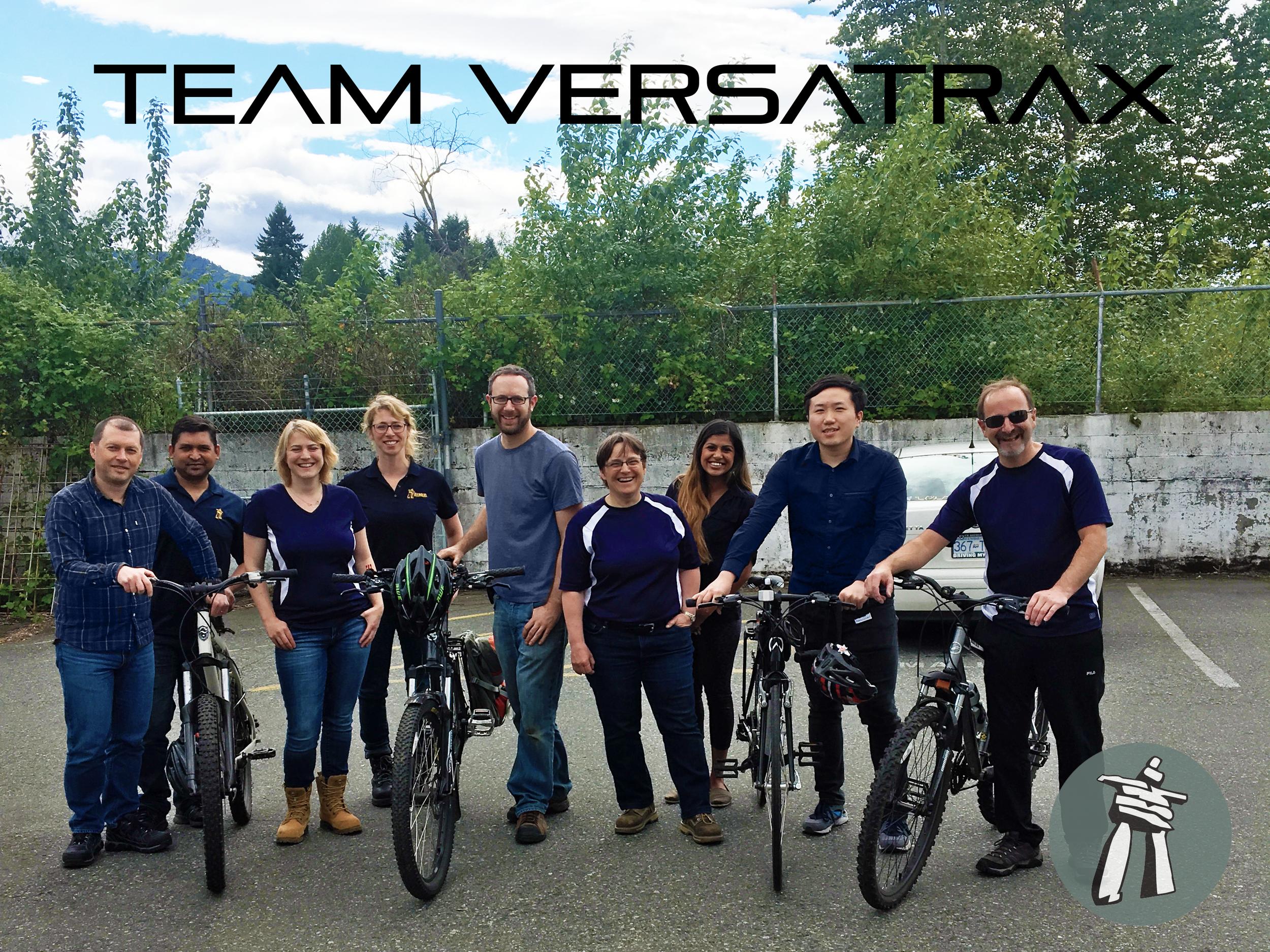 Team Versatrax on behalf of Inuktun for Bike to Work Week
