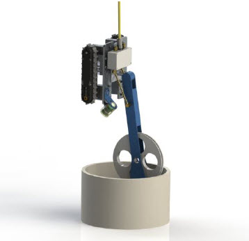 Figure 2 Deployment and Positioning Mechanism - 12 Inch Riser