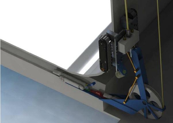Figure 4 Inspection Crawler Deployment into Air Slot