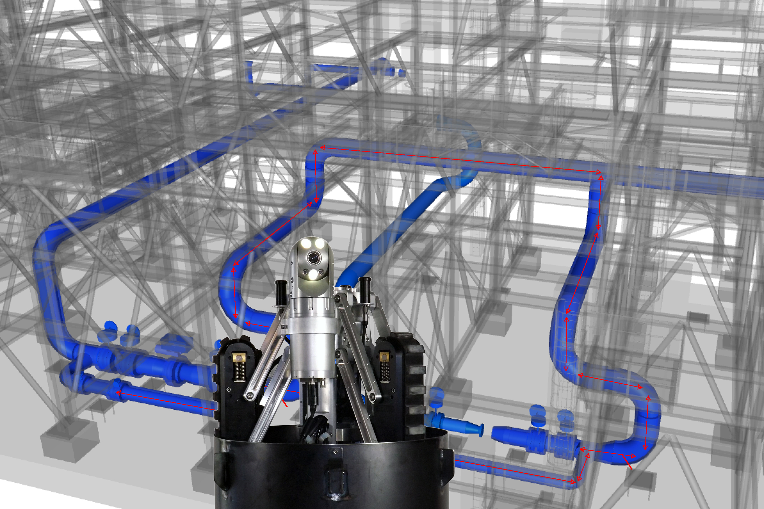 VT150 Vertical Crawler™ Performs Intricate LNG Pipe Inspection