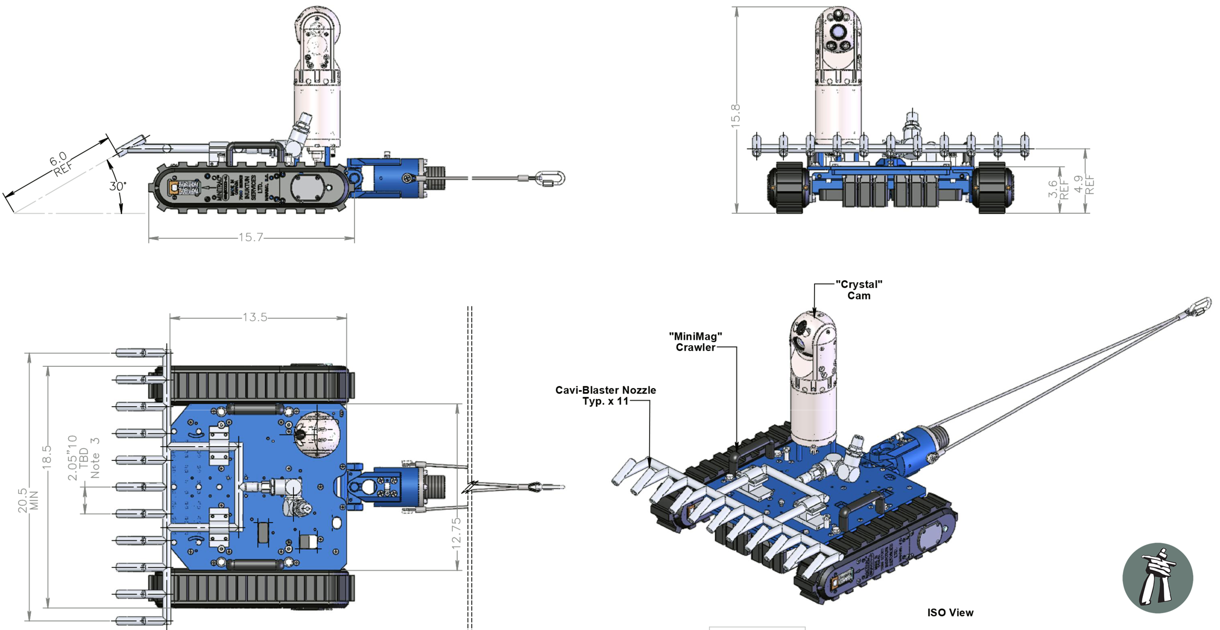 CONCEPT Inuktun Ship Hull Cleaning Robotic Crawler Click image to expand