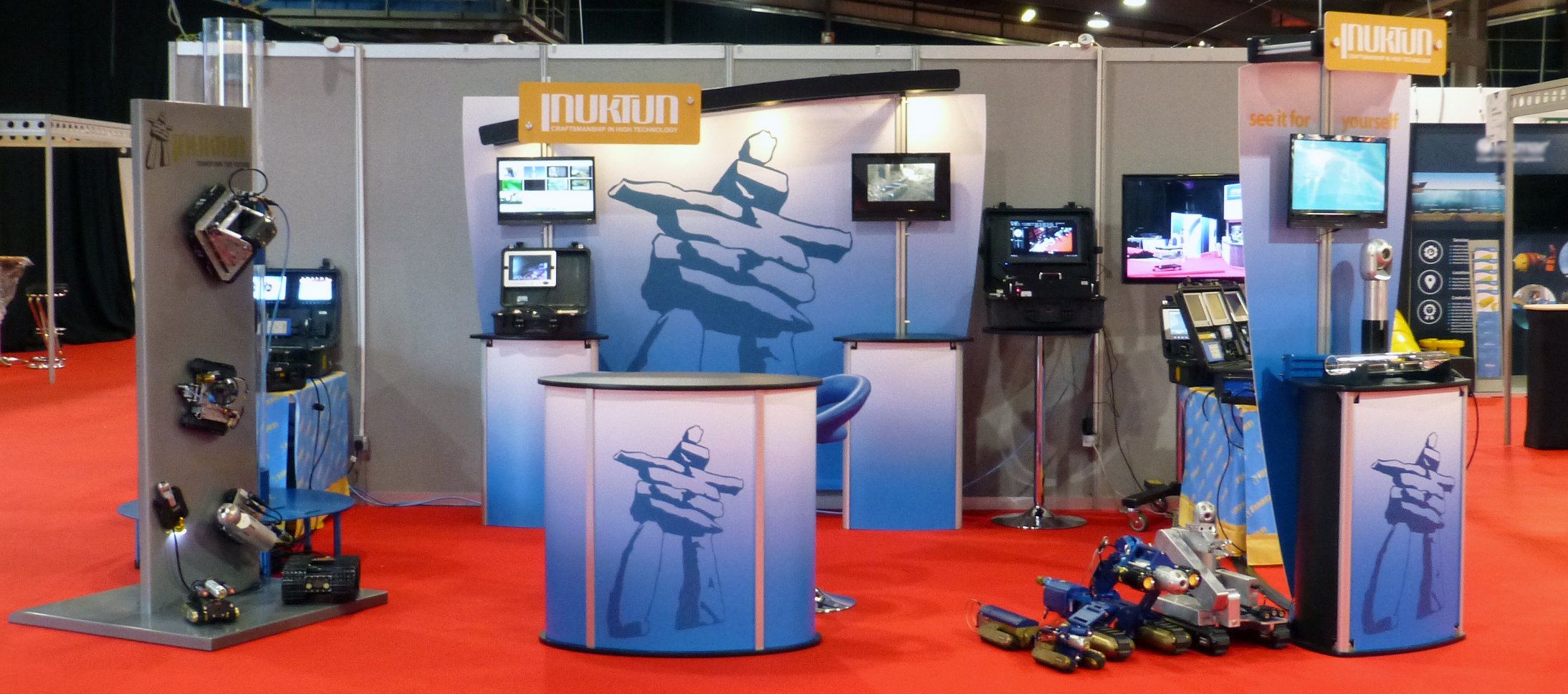 Inuktun Europe's Stand at Subsea Expo 2018