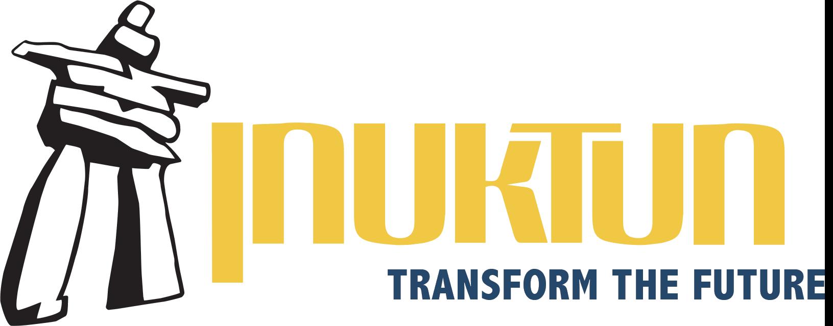 White Inukshuk Inuktun Tagline Logo.png