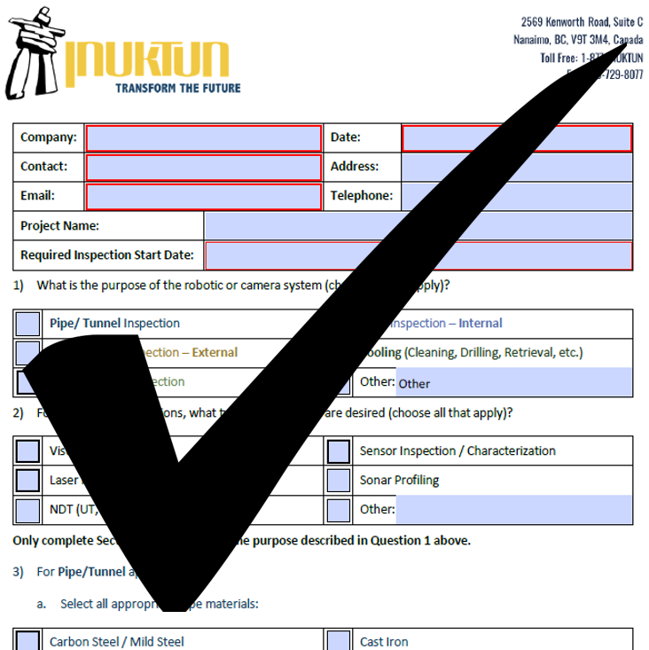 Inuktun Inspection Checklist