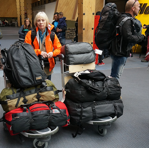 Kathy (aka Bag Lady) with Gura Gear and BAD bags, a great and unbeatable combination