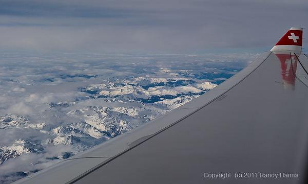Swiss Alps from the Air  Nikon D3s, 24-70mm @ 52mm, ISO 200, f/9.0 @ 1/800 sec