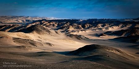 'Morning Glow' over the inland dunes of the Skeleton Coast, Namibia