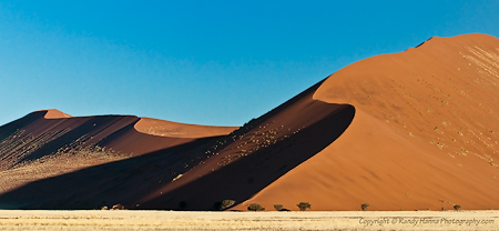 Red Dunes (Dune 43) of Namib-Naukuft Park, Namibia  Nikon D300, 70-200VR, 95mm @ f9 1/640 sec, -2EV