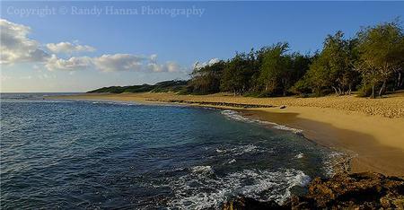 Golden light on a secluded Kauai Island beach  Nikon D300, 17-55mm