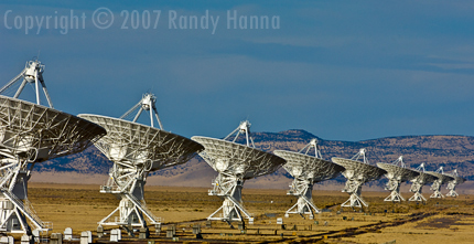 Very Large Array, Outside of Soccoro, New Mexico  Nikon D2x, 200-400VR f4@ 340mm, ISO 250 f11 @1/500 sec