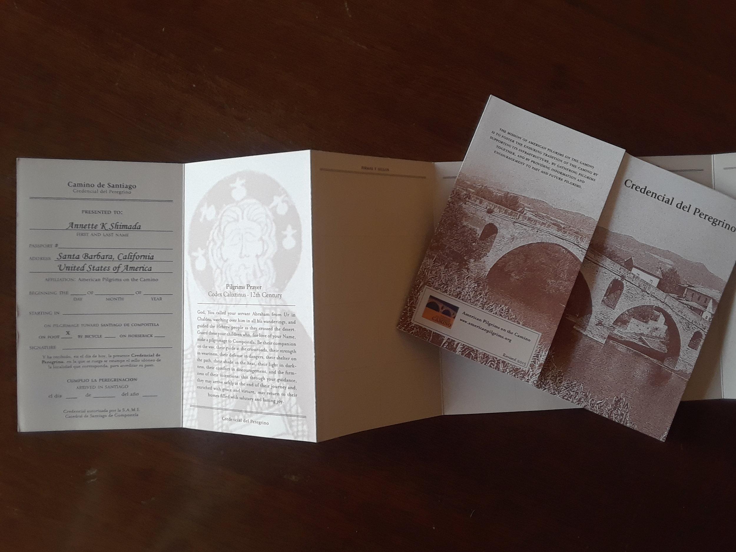 Official Pilgrim Passport!