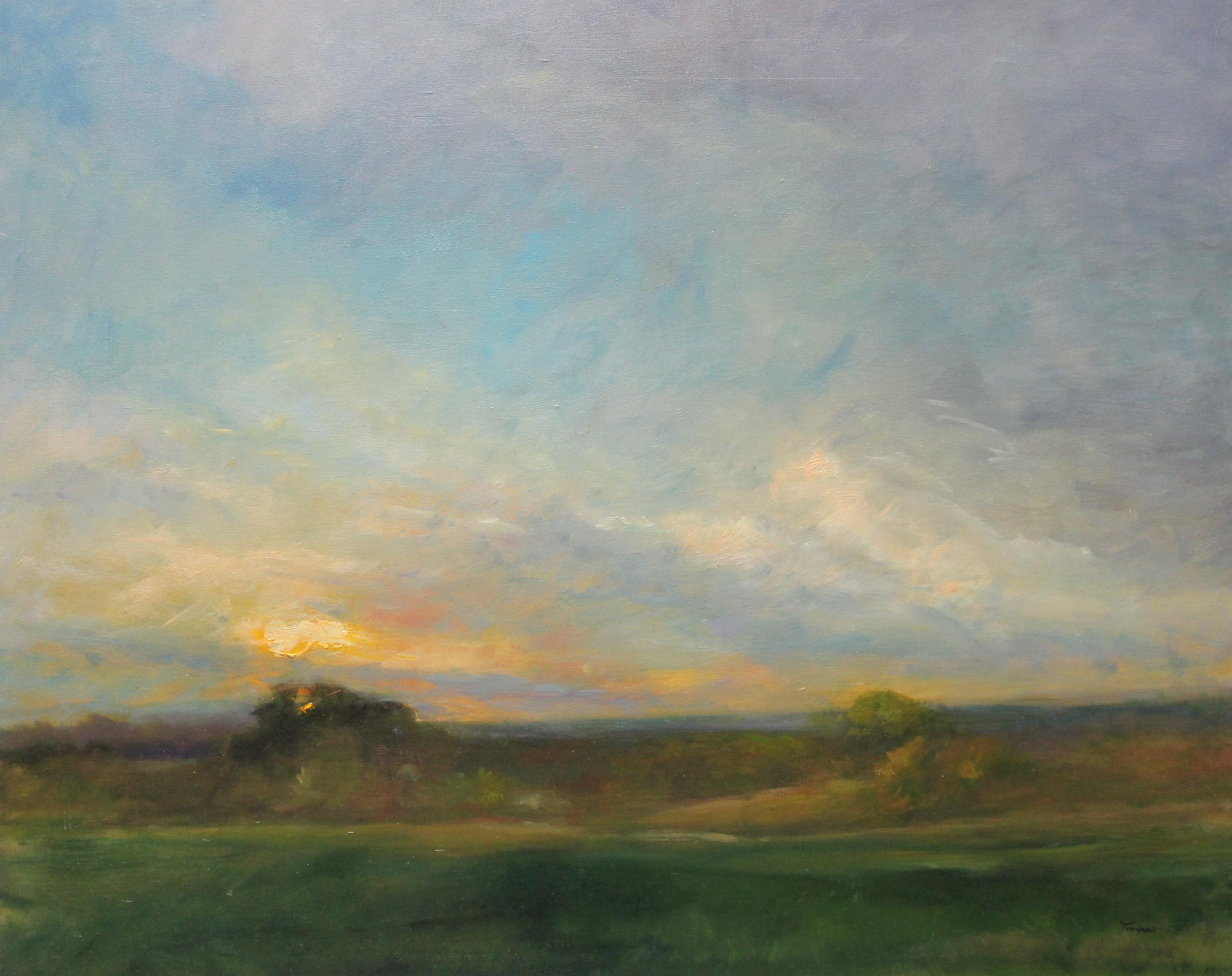 Sunset over Minnesota Farmland