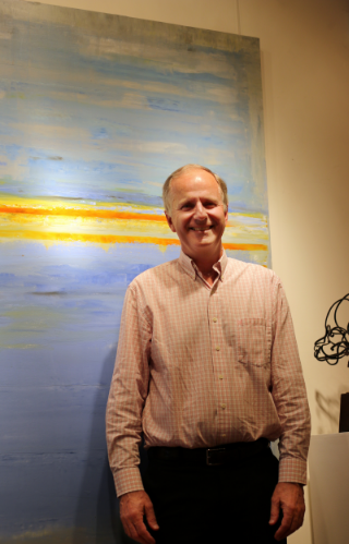 "Jim at the opening of his latest solo exhibition ""Quiet Places, Loud Spaces""."