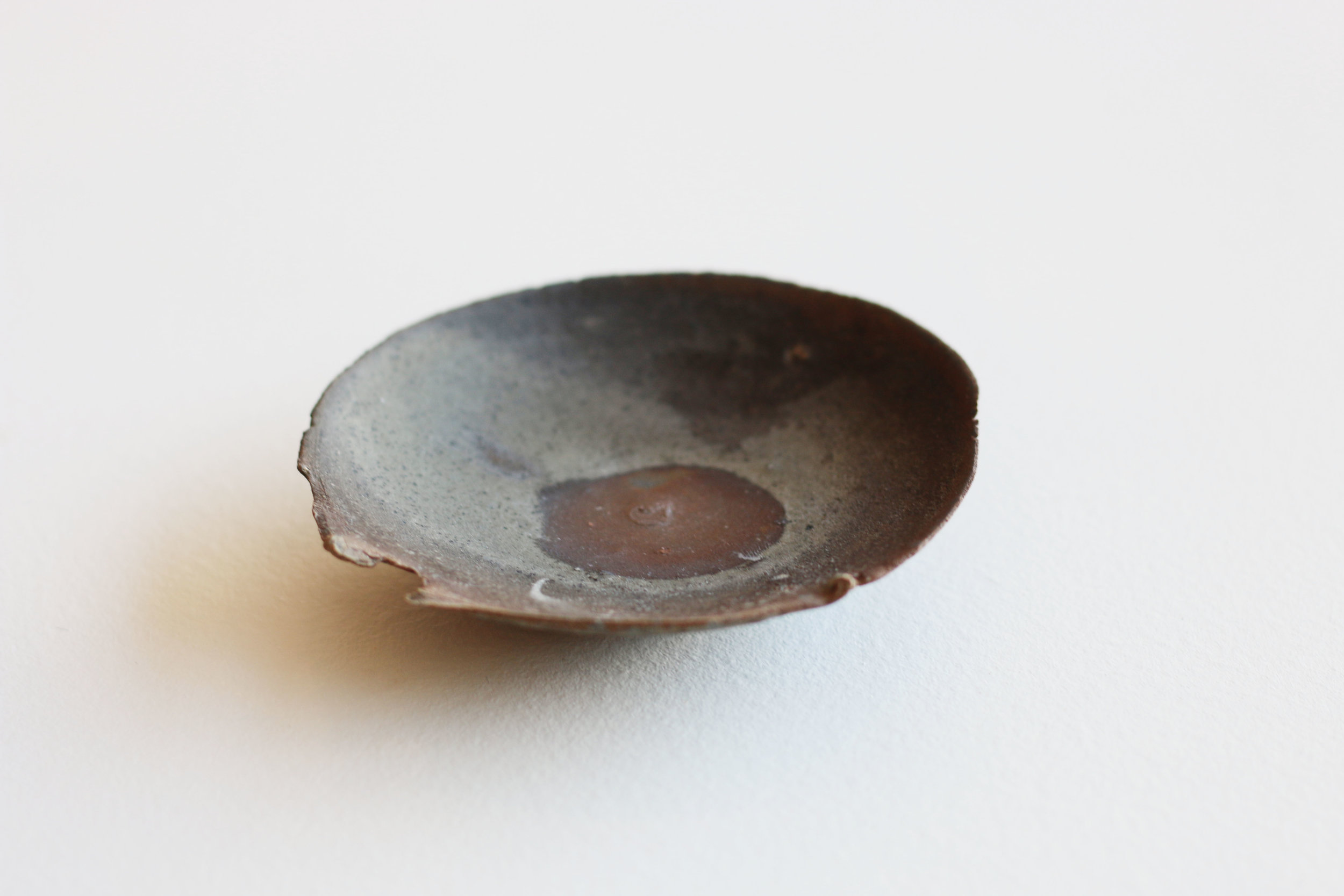 Small Dish with Ripped Lip