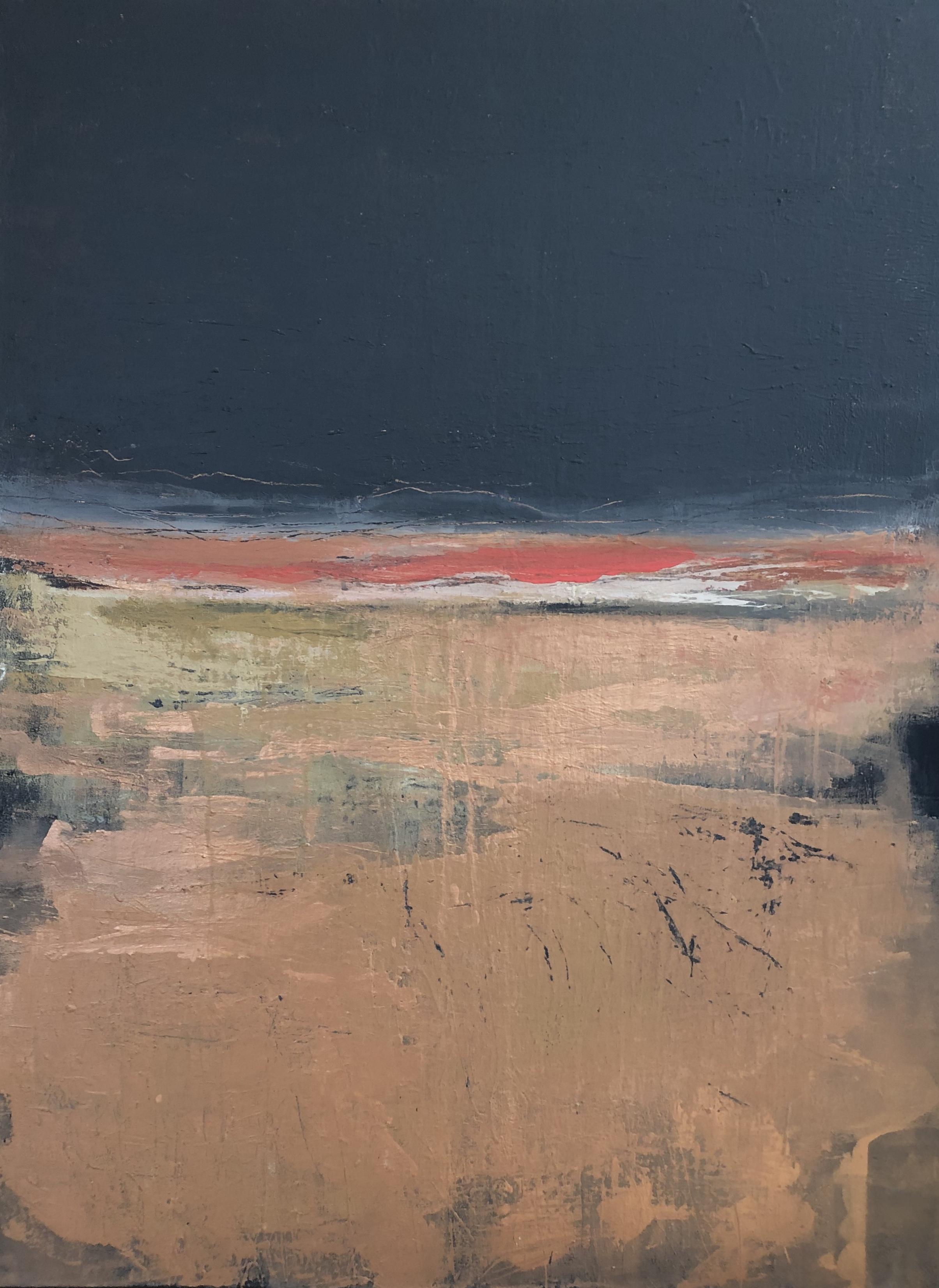 """""""Midnight Aura"""", acrylic on canvas, 48"""" x 36"""""""
