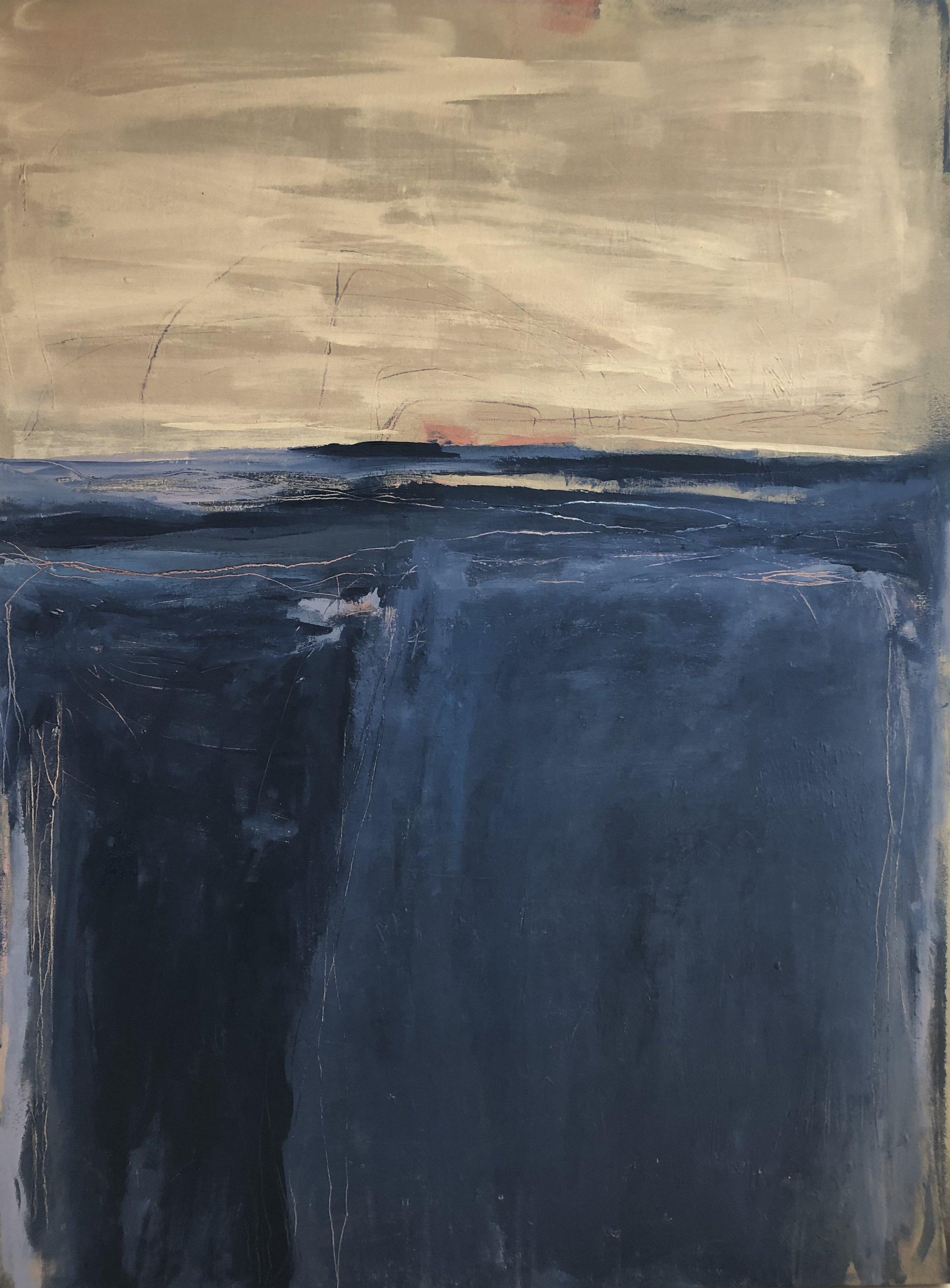 """Indigo Waters"", acrylic on canvas, 40"" x 30"""