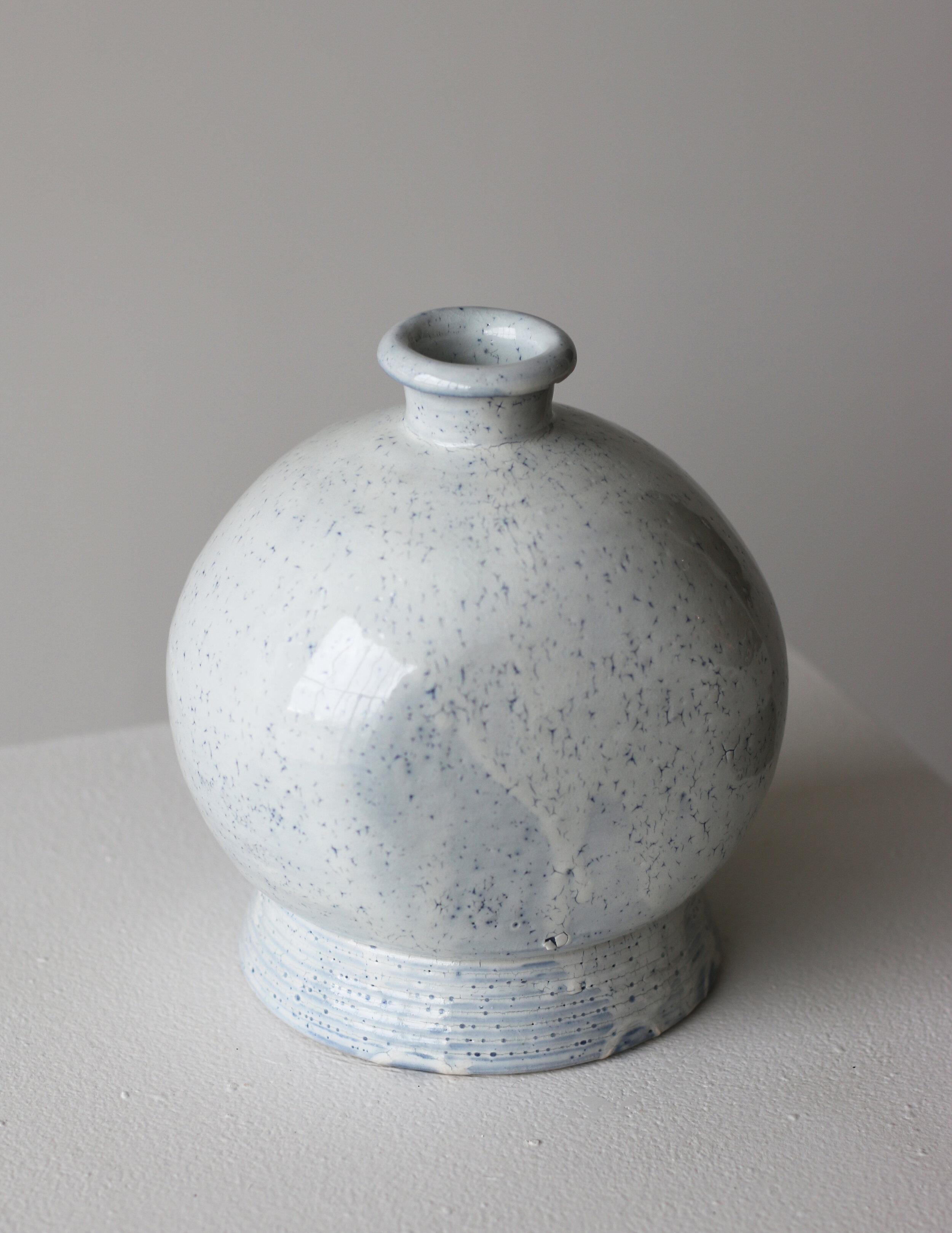 White Bottle Vase