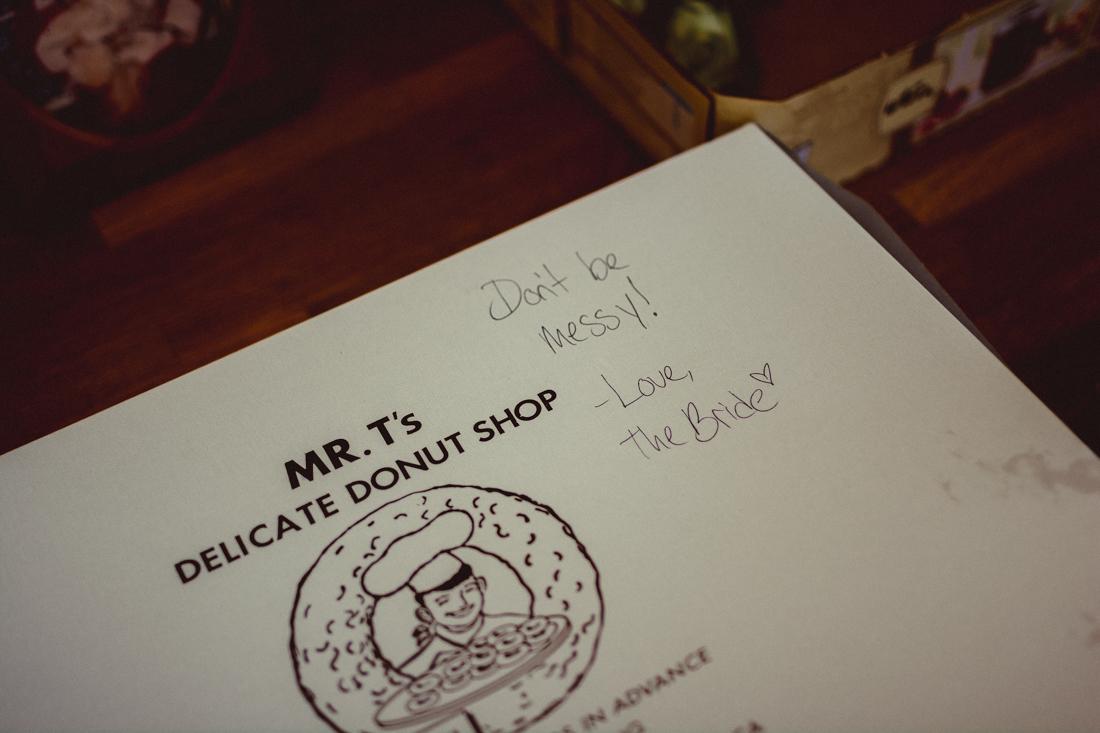 Lake Tahoe California Wedding Photographer donuts photo