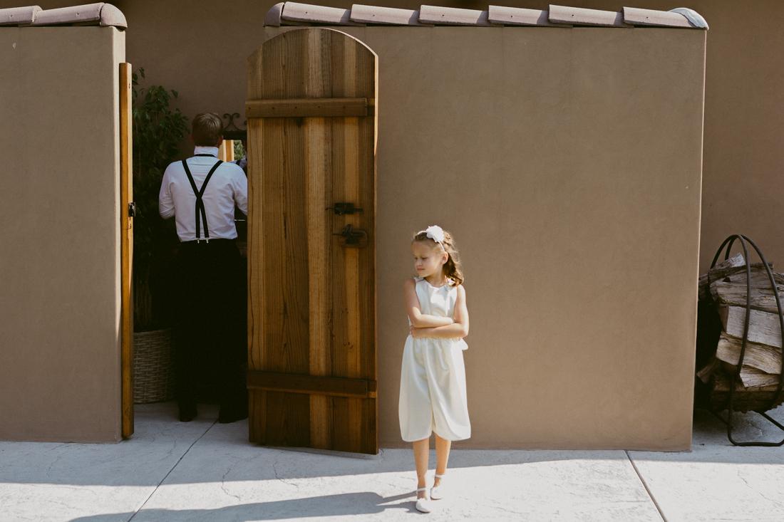 Lake Tahoe California Wedding Photographer groom and the flower girl photo