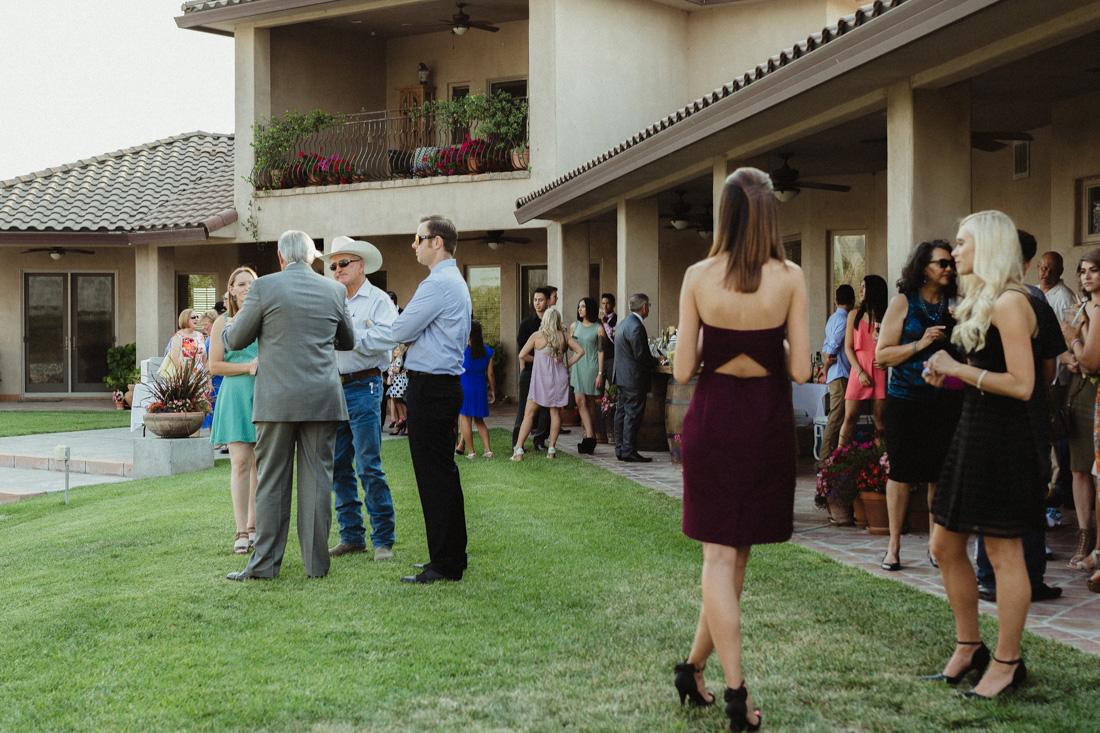 California Wedding private venue guests talking