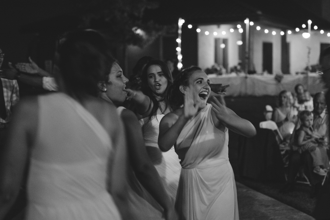California Wedding private venue  bride dancing with her friends photo